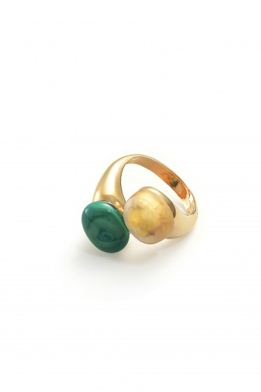 RING CAMILLE COL. GREEN PETROLIO