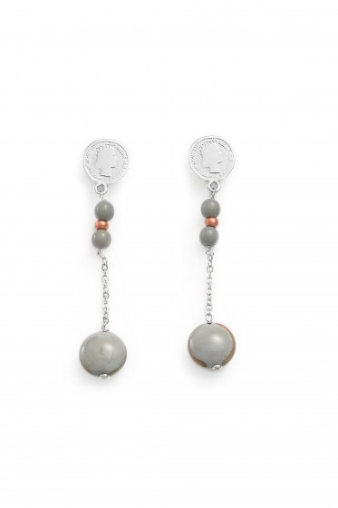 EARRINGS MADEMOISELLE PENDENTE COL. GREY