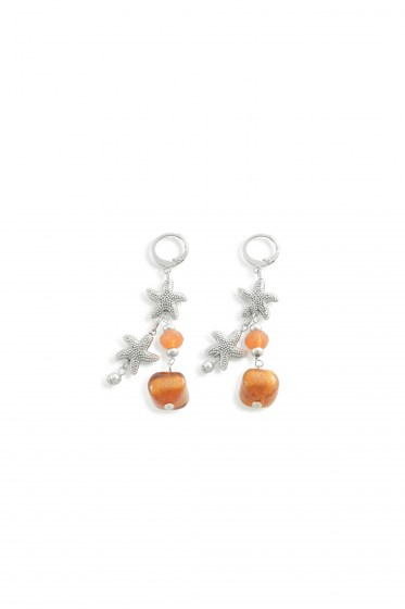 EARRINGS MARINE   (6,5cm)