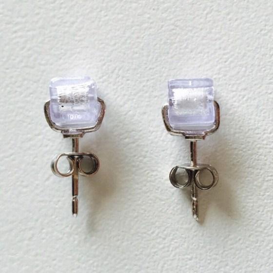 lucia earrings white
